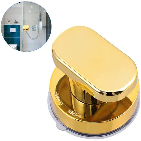 """main image of """"Powerful Suction Cup Handle, Shower Wall Suction Cup Suction Cup Handle, Toilet Bathroom Sliding Door Handle, with a Solid Suction Cup, gold"""""""