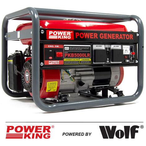 PowerKing Petrol Generator PKB5000LR 3200w 4.0kVA 7HP 4 Stroke