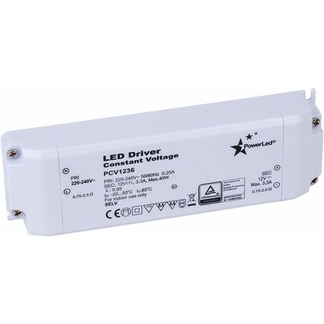 PowerLED PCV1236 Constant Voltage LED Power Supply 12V 3A 36W