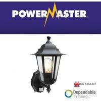 Powermaster 6 Panel Coach Garden Security wall Lantern Lamp Light with PIR s5902