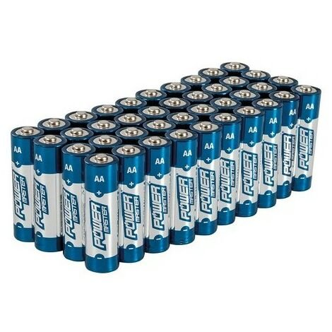 Powermaster 827540 AA Super Alkaline Battery LR6 40pk