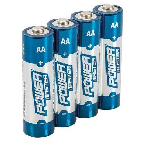Powermaster 992118 AA Super Alkaline Battery LR6 4pk