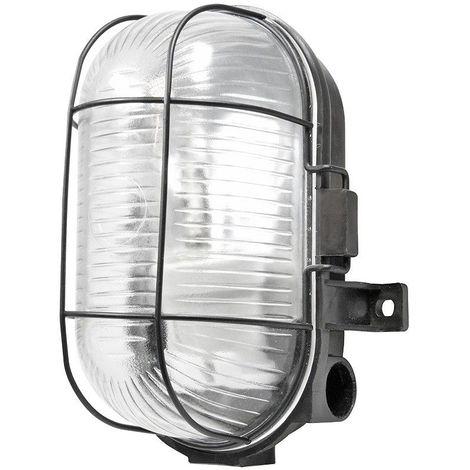 Powermaster Oval Caged Bulkhead Light 60w S5879