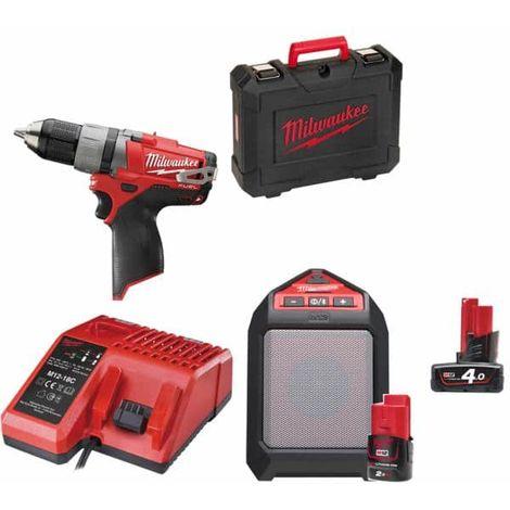POWERPACK M12 - M12 CSD 0 - M12 Battery 2.0Ah and 4.0Ah - Speaker Bluetooth Wireless JSSP M12 - M12 Charger - Box M1