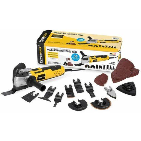 Powerplus POWX1347MC - Outil multifonction + accessoires (36pcs) - 300W