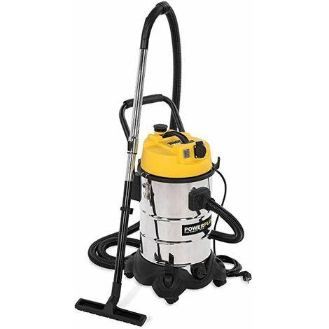 PowerPlus POWX324 Aspirador seco/húmedo, 1200 W, 240 V, 30 litros