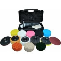 Powerstorm® Car Polisher Buffer Sander with Carry Case Plus 15 Car Polisher Heads DELUXE PLATINUM Pack Fantastic Value