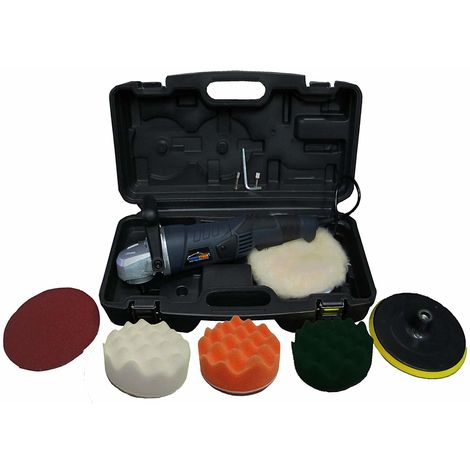 Powerstorm® Car Polisher Sander Buffer Wavy Sponges with Carry Case B