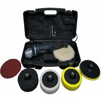 PowerStorm® Car Polisher Sander Buffer with Carry Case Plus 6 Car Polisher Heads GOLD Pack