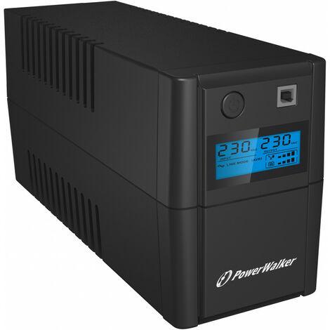 PowerWalker Bluewalker VI 850 SHL Schuko - Interactivité de ligne - 850 VA - 480 W - 170 V - 280 V - 50/60 Hz (10120096)