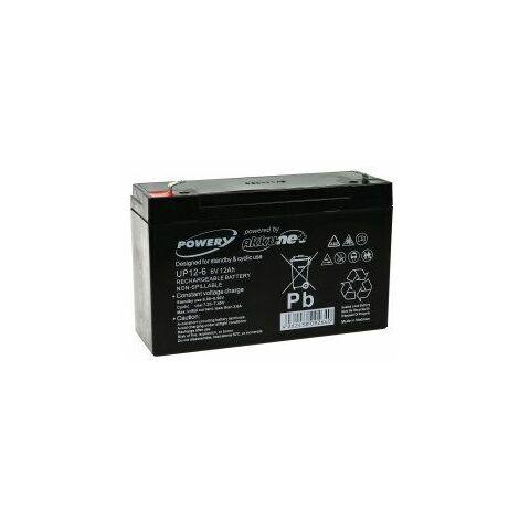 Powery Batería de GEL 6V 12Ah