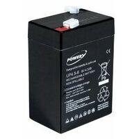 Powery Batería de GEL para Linterna Halógena Johnlite 6V 4,5Ah (Reemplaza también 4Ah 5Ah)