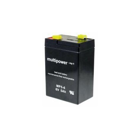Powery Batería de Reemplazo para Vehículo infantil Moto de niño Quad 6V 5Ah (Reemplaza también 4,5Ah 4Ah)