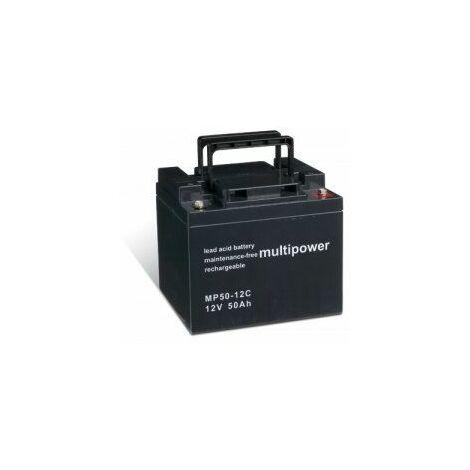 Powery Batería Plomo-ácido (multipower) para Silla de Ruedas Eléctrica Meyra Ortopedia Eurostar cíclica