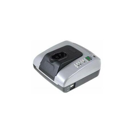 Powery Cargador de batería con USB para Bosch Taladro PSR 12VE-2
