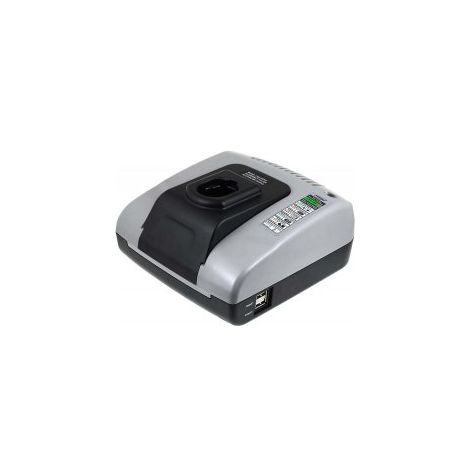 Powery Cargador de batería con USB para Herramienta Black & Decker Combo Kit FSC518K-2