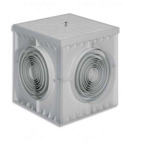 """main image of """"POZZETTO MONOLITICO IN PLASTICA PVC CON COPERCHIO PER CAVI ELETTRICI"""""""