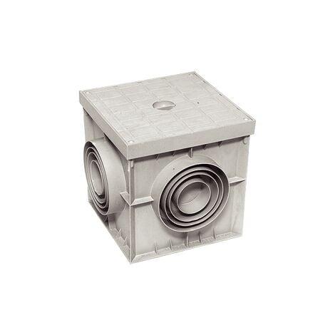 """main image of """"Pozzetto singolo 20x20 200x200 con coperchio colore grigio in ppr acquedotto"""""""