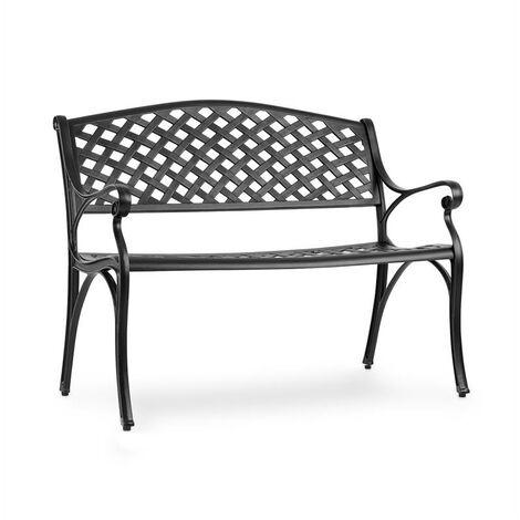 Pozzilli BL Garden Bench Die-Cast Aluminium Weather Resistant Black