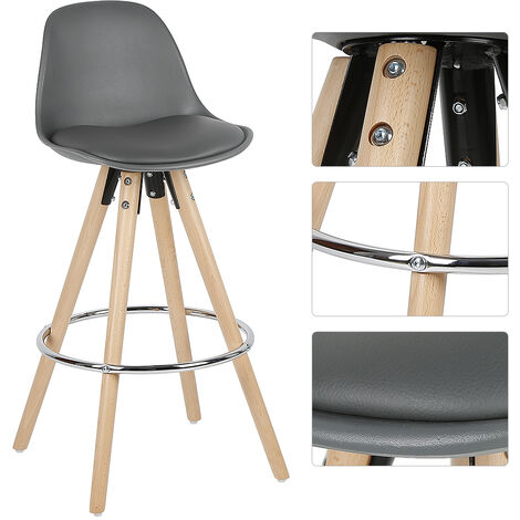PP high bar stools with two outer gray iron rings