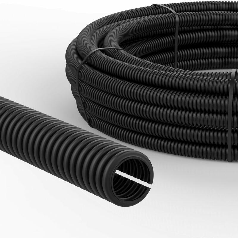 Wellrohr Marderschutz /Ø6,5mm innen und /Ø10mm au/ßen Ungeschlitzt 50m Wellschlauch Kabelschutzrohr