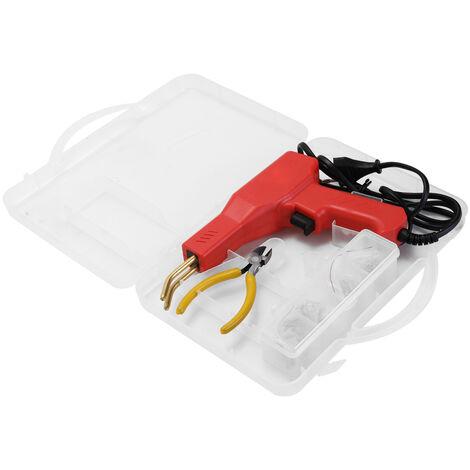 Practico soldador de plasticos Herramientas de garaje Maquina de grapadoras en caliente Maquina de reparacion de PVC de grapas Maquina de reparacion de parachoques de automoviles Herramienta de soldadura de grapadora en caliente