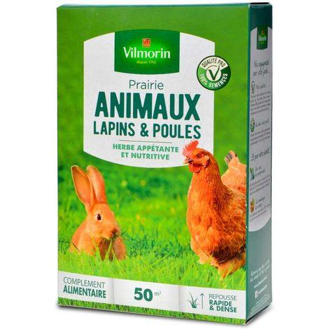 Prairie verte jardin, spécial lapins et poules. 50 m²