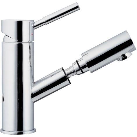 Praktische Armatur Wasserhahn Bad Waschbecken Chrom Spülbecken Ausziehbar  Haare Waschen Sanlingo