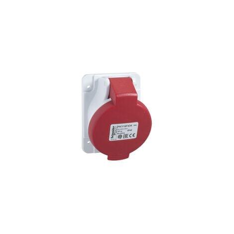 PratiKa - socle de prise industrielle coudée 16 A - 3P+N+T - 380-415 V CA - IP44 - PKY16F435