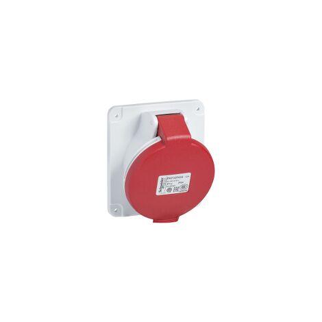 PratiKa - socle prise industrielle - 32A - IP44 - 380 - 4P - vis - PKF32F434
