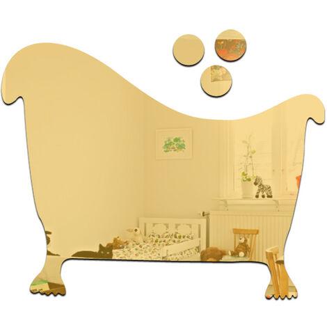 Pratique 3D Toilette Wc Homme Et Femme Miroir Sticker Mural Bricolage Maison Amovible Decoration Autocollants