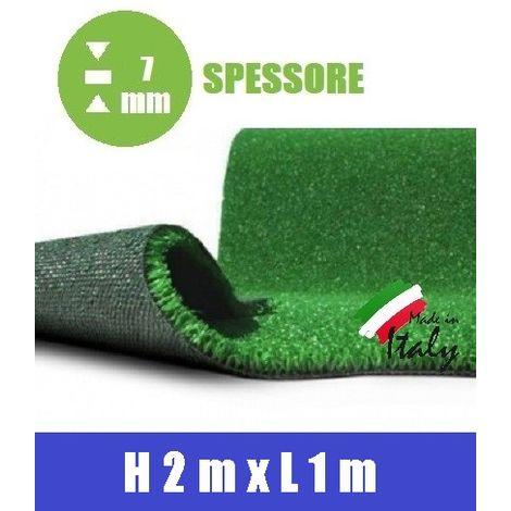 Prato Sintetico Artificiale Spessore 7 mm Italfrom® - Misure: h 2,00