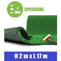 Prato Sintetico Artificiale Spessore 7 mm Italfrom? - Misure: h 2,00