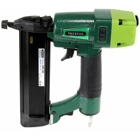 Prebena 2XR-J50 Luftdruck Druckluftnagler 4 - 7 Bar + Koffer + 8000x J-BOX Stauchkopfnägel / Brads + Makbox