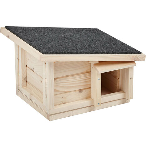 "main image of ""Predator Proof Hedgehog House Home Wooden Hibernation Shelter Habitat Nest Box"""