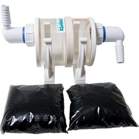 Préfiltre charbon actif pour condensats de chaudière fioul jusqu´à 37KW