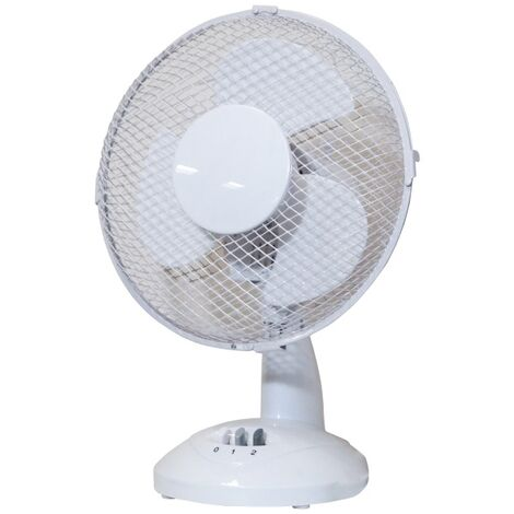 "Prem-I-Air 9"" White Desk Fan - EH1854"