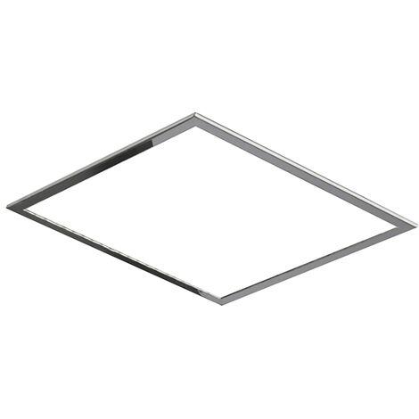 Premarco de techo cromado empotrado rociador cuadrado 40cm