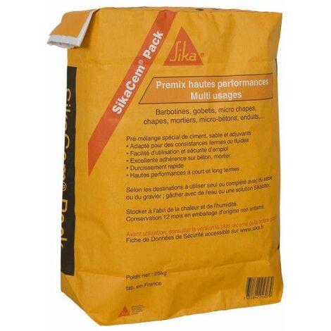 Premezcla de alto rendimiento SIKA SikaCem Pack - 25kg - Gris