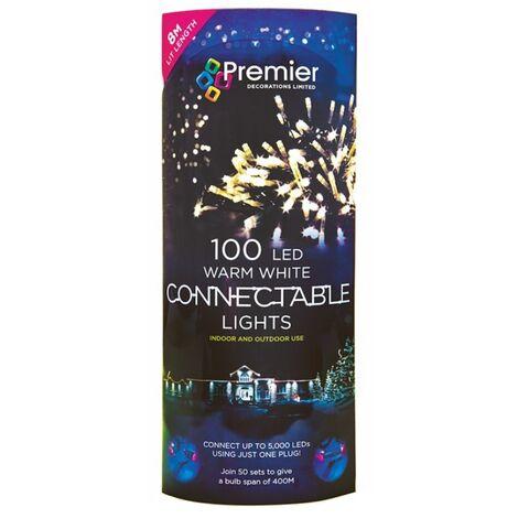 Premier 100 LED Christmas Connectable Lights 100 LED
