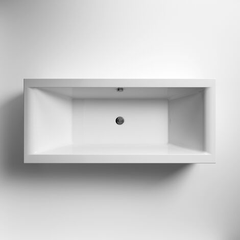 Premier Asselby Double Ended Rectangular Bath 1800mm x 800mm - Acrylic