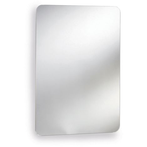 Premier Austin Mirrored Cabinet 660mm H x 460mm W Stainless Steel
