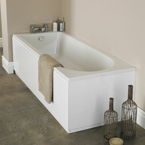 Premier Barmby Single Ended Rectangular Bath 1600mm x 700mm - Acrylic