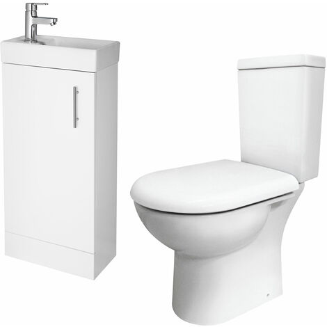 Premier Bathroom Suite with Floor Standing Vanity 400mm - 1TH