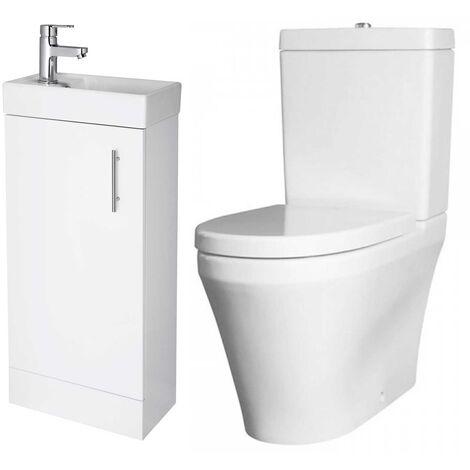 Premier Bathroom Suite with Floor Standing Vanity Unit 400mm - 1 Tap Hole