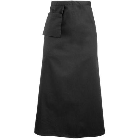 Premier Bistro Apron / Workwear (Pack of 2) (One Size) (Black)