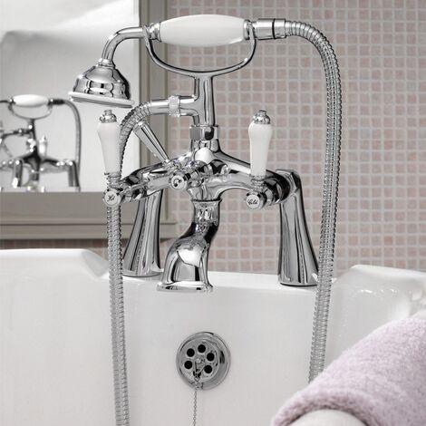 Premier Bloomsbury Bath Shower Mixer Tap Pillar Mounted - Chrome