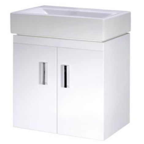 Premier Checkers 450mm Wall Mounted Cloakroom Vanity Unit