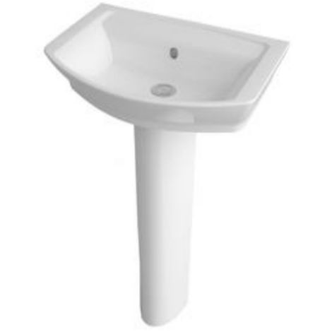 Premier Clara 550mm 1 Tap Hole Basin And Full Pedestal