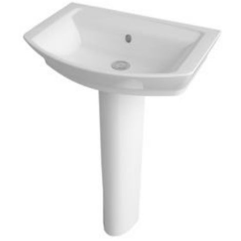 Premier Clara 650mm 1 Tap Hole Basin And Full Pedestal